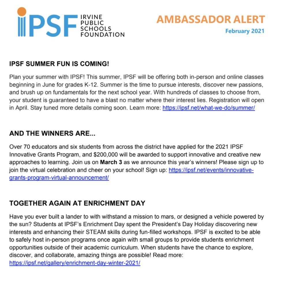 IPSF Feb Alert